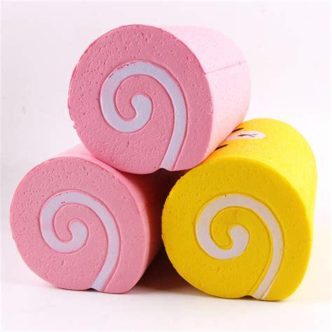 Squishy Cake Roll Jumbo squishy jumbo cake roll 15cm rising kawaii