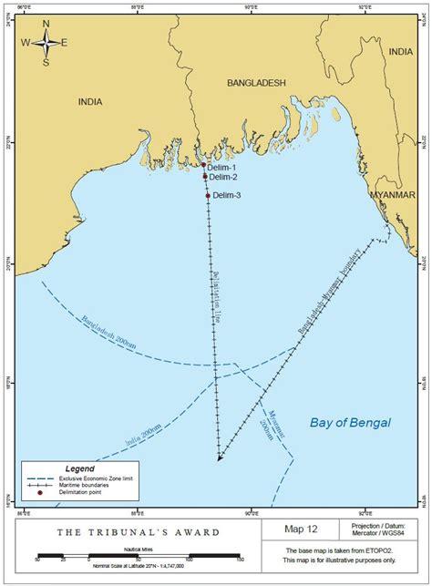 Continental Shelf Of India by Unclos Annex Vii Tribunal Decides Bangladesh India