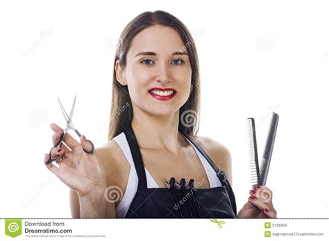 professional hairdresser stock images image 3129304