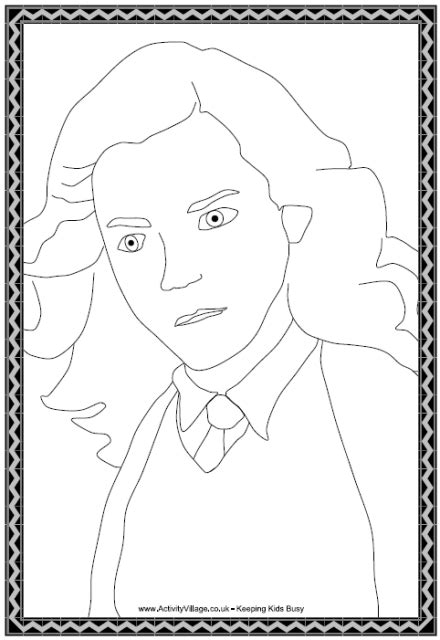 Hermione Granger Coloring Pages by Hermione Granger Colouring Page