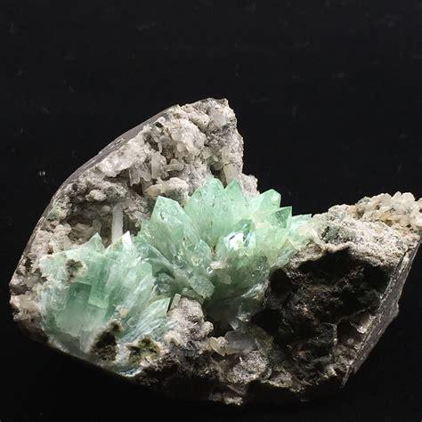green apophyllite cluster conscious stones