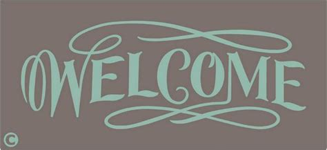 primitive stencil welcome stencil door greeter home decor