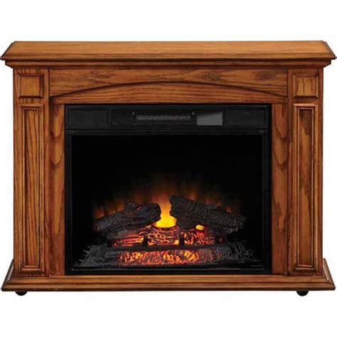 style selections electric fireplace lowes deal style selections premium oak electric fireplace now 179