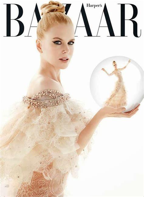 Is Cover Of Harpers Bazaar by Kidman S Bazaar Australia Cover December