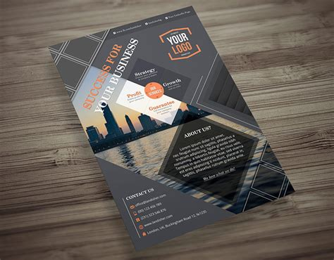 business flyer brochure template landisher