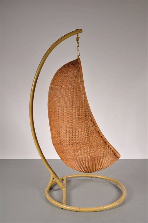 wicker hanging chair wicker hanging chair attributed to nanna ditzel circa