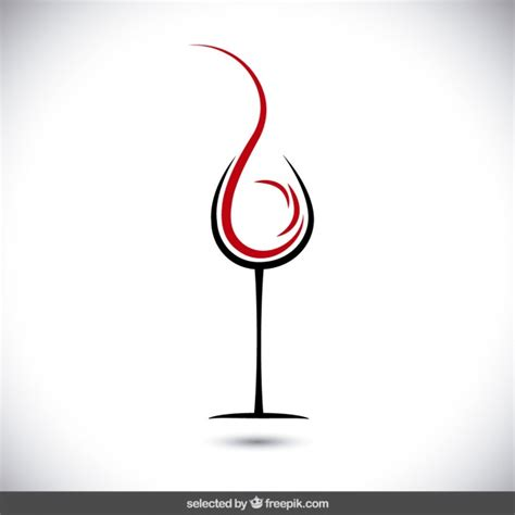 wine glass svg abstract glass of wine logo vector free download