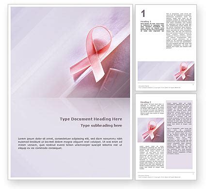 Breast Cancer Brochure Template Free Breast Cancer Awareness Word Template 02302 Poweredtemplate Breast Cancer Brochure Template Free