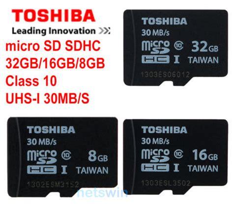 Micro Sd Toshiba 8gb Class 10 100 genuine toshiba micro sd sdhc class 10 uhs i 30mb s