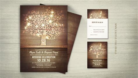 Wedding Invitations With Woods Themes by Read More String Lights Tree Wooden Barn Wedding