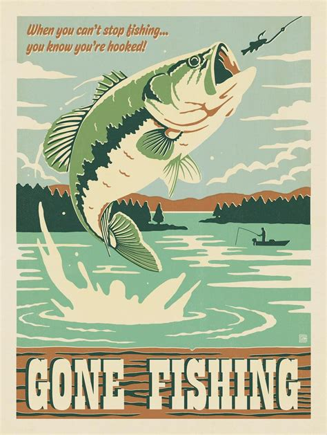 printable fish poster anderson design group man cave collection