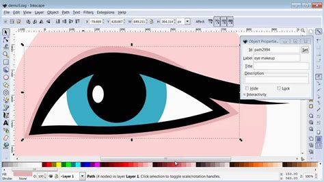 tutorial do inkscape woman s eye inkscape drawing tutorial youtube