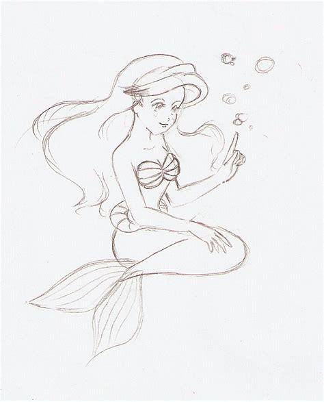 sketch free free sketch ariel by minkdragon on deviantart