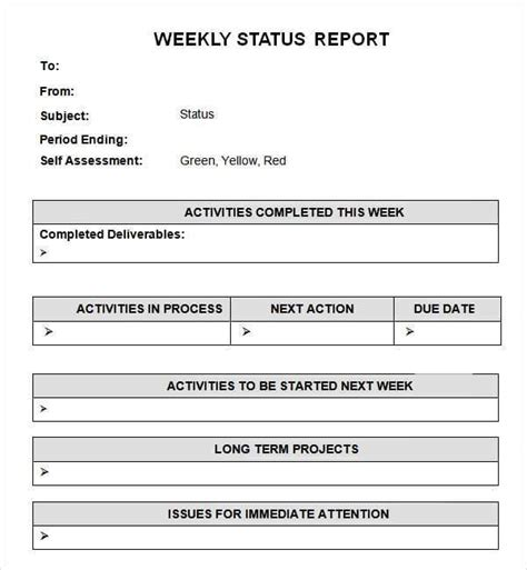 weekly report template ppt inquangcao info