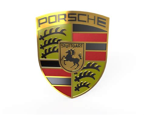 porsche logo vector porsche logo 3d cad model library grabcad