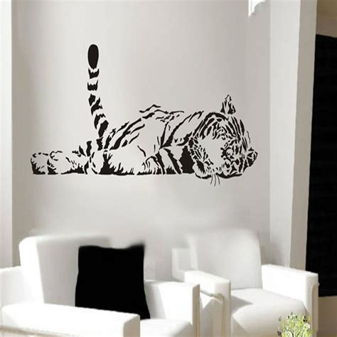 home decor stickers animal tiger relaxing wall sticker waterproof home decal