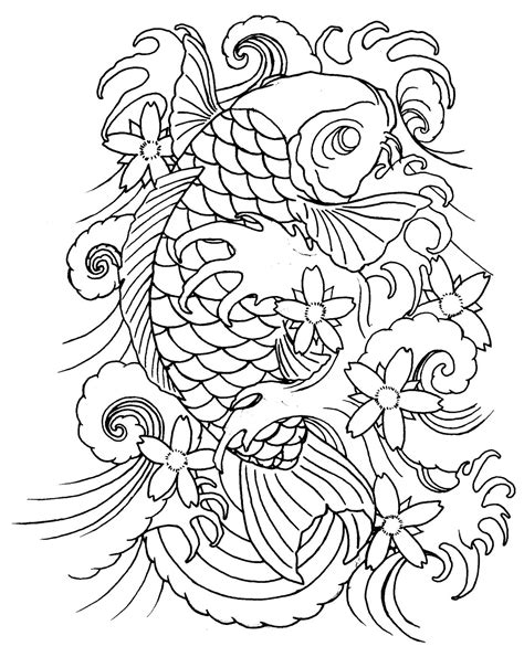 line art tattoo koi tattoos designs ideas and meaning tattoos for you