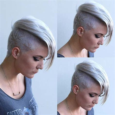 45 undercut hairstyles with hair tattoos for women