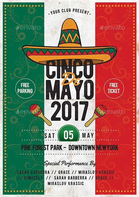 Cinco De Mayo Psd Template Best Flyer For Mayo Parties Cinco De Mayo Template