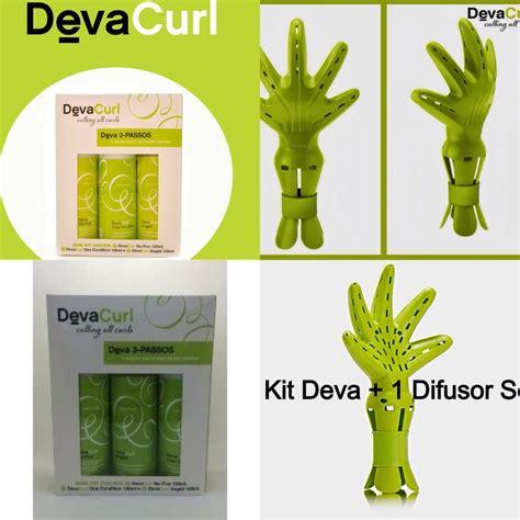 deva curl secador deva curl difusor mini kit 3 prod 120 ml cada combo