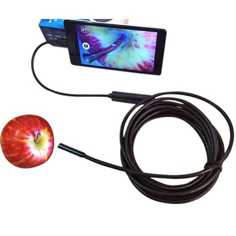 usb endoscope 7mm lens waterproof android pc endoscope inspection