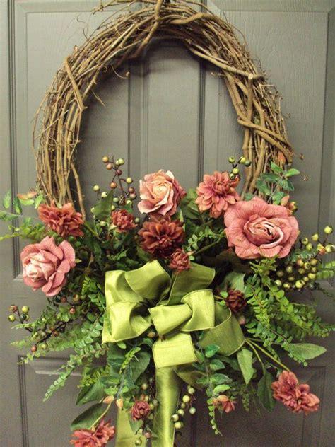 Beautiful Front Door Wreaths Front Door Wreath Wreath Summer Wreath Wreaths Beautiful Yellow Roses
