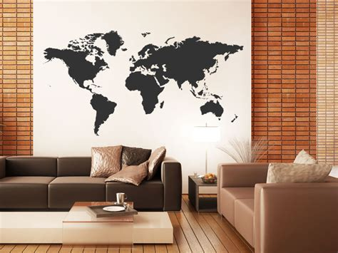 Map Of The World Stickers For Walls wandtattoo weltkarte wandtattoo weltkarten wandtattoos
