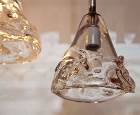 Industrial Hanging Pendant Lights With Hand Blown Glass At Blown Glass Pendant Lights