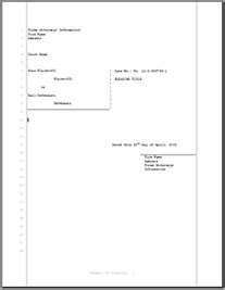 Legal Pleading Template For Civil Court Filings 28 Lines Court Papers Template