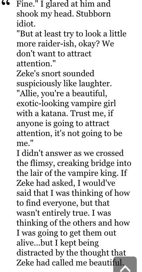 Allie and Zeke The immortal rules by Julie Kagawa