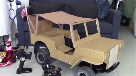 jeep box car diy jeep 1 5 cardboard project
