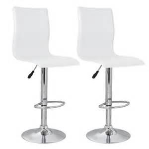 Bar Stool With Backrest Set Of 2 White Pvc Bar Stool With High Backrest Vidaxl