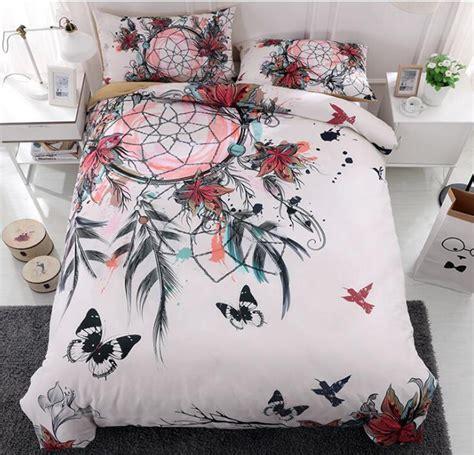 dreamcatcher bedding set feather flower bohemian