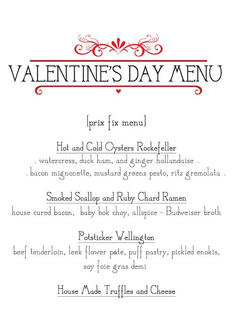 valentines day menu valentine s day prix fix menu postbellum