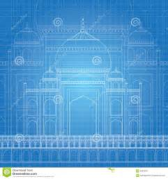print plans blue print taj mahal royalty free stock photo image