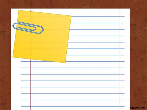 Notebook Paper Powerpoint Template The Highest Quality Notebook Paper Powerpoint Template