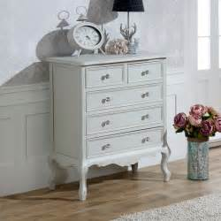 grey chest of drawers french shabby chic ornate crystal knob bedroom furniture ebay