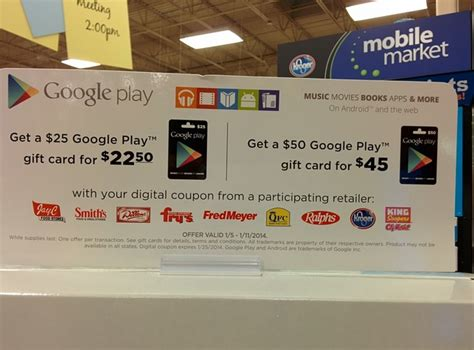 Google Play Gift Card On Sale - google play gift cards on sale at select retailers android central