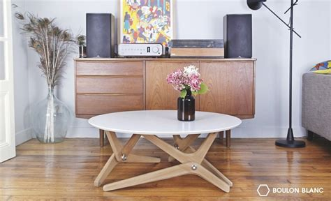 coffee table transforms to dining table boulon blanc transforms from coffee table to dining room