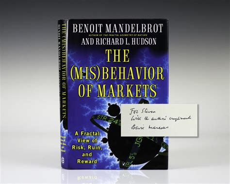 the misbehaviour of markets misbehavior of markets mandelbrot first edition signed rare