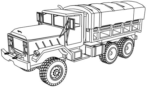 coloring pages of army trucks m923 military truck coloring page wecoloringpage