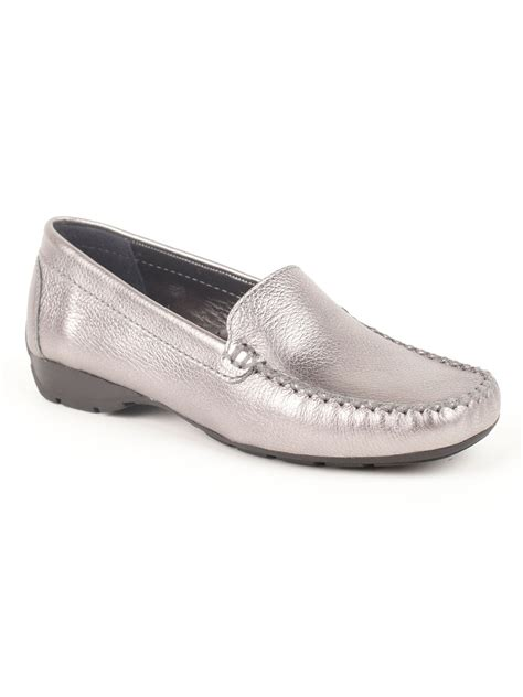 pewter flat shoes jones bootmaker gury casual flat shoe in silver pewter
