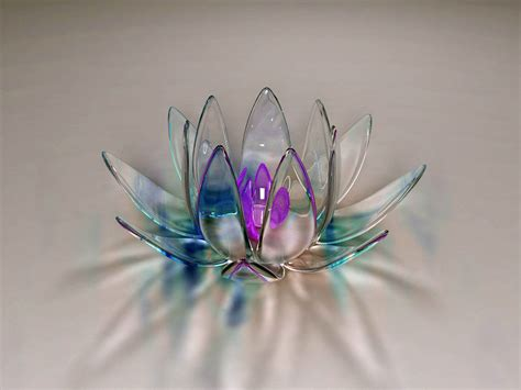 wallpaper 3d lotus wallpapers glass art wallpapers
