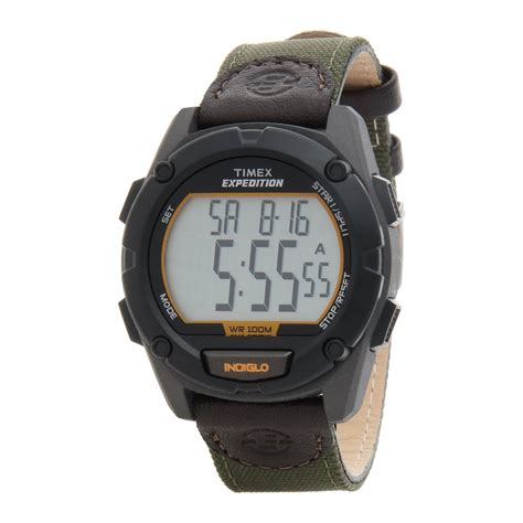 Expedition 6339 Black Leather timex expedition black digital for save 47