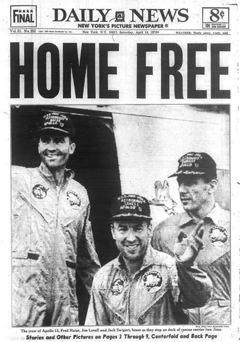 apollo 13 astronauts return after space crisis in