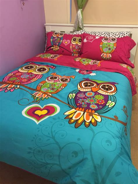 aliexpress com buy 3 4pcs twin single kids owl bedding