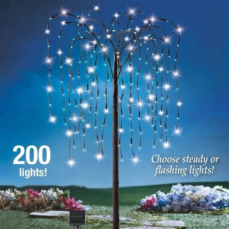 yard lighted tree 4ft decoration outdoor solar willow