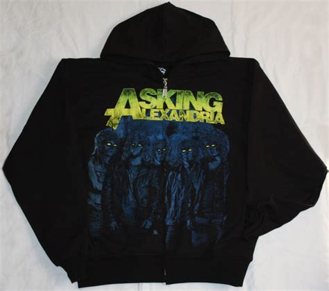 Hoodie Asking Alexandria Family asking alexandria can t help zipped hoodie with pockets new black sweatshirt ebay