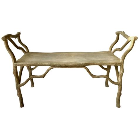 twig bench faux bois concrete quot twig quot bench at 1stdibs