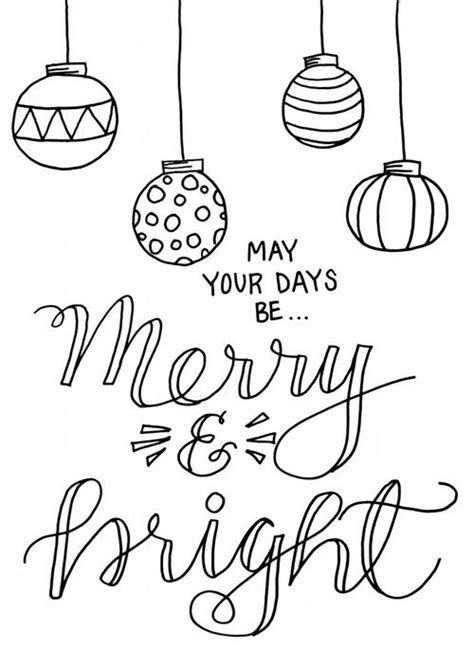 merry christmas coloring pages for adults merry and bright christmas coloring page